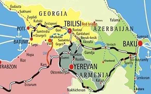 guam karta Map 2. New Kars Akhalkalaki railway line from the Baku Tbilisi  guam karta