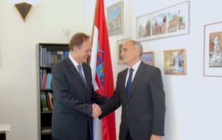 Чрезвычайный и Полномочный Посол Республики Хорватия в Украине принял Генерального секретаря ГУАМ