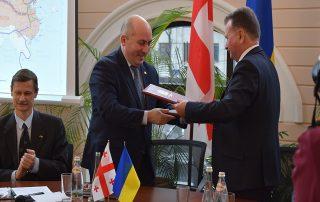 Генеральный секретарь ГУАМ и Координатор программ Секретариата приняли участие в презентации нового транспортного маршрута